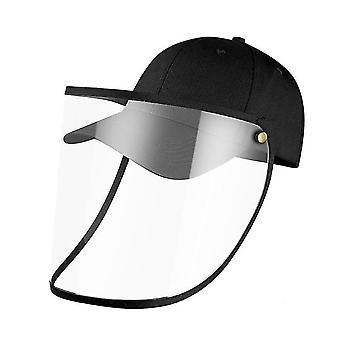 28Cm * 25 سم * 1 سم أسود كامل الوجه قبعة البيسبول مع غطاء الوجه القابلة للإزالة x3736