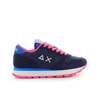 Sun68 Ally Solid Nylon Navy Blue Fuchsia Sneaker