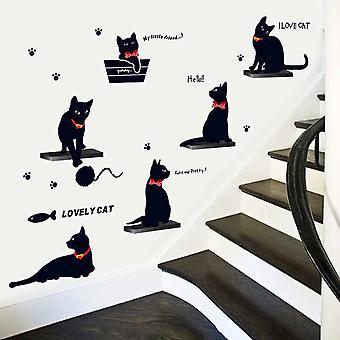Regenboghorn Lovely Cat Wall Decal Sticker ID843