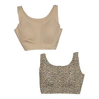 Rhonda Shear Women's Bra 2XL Reg 2-pack Invisible Body Ivory 725693