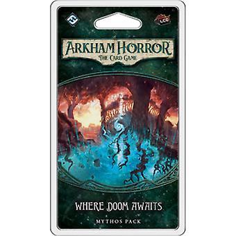 Arkham Horror kortti peli, jossa Doom odottaa