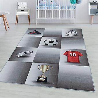 Børneværelse tæppe SPIL kort bunke børns tæppe spil fodbold trøje kop
