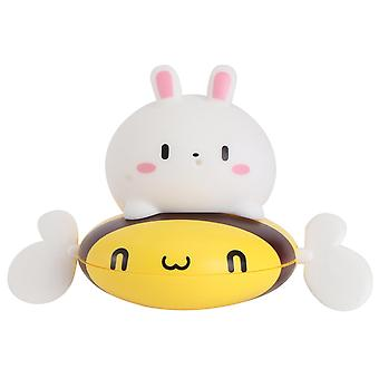 14X12cm yellow white 1pc cartoon bee rabbit toy baby shower toy infant bathing toy (yellow white) dt3576