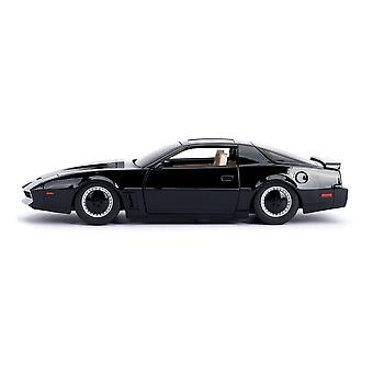 Knight Rider - Hollywood Rides KITT 1982 Pontiac Firebird Trans Am Die-cast Lelu Lihasauto (musta)