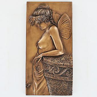 Thought Cold Cast Bronze Wall Plaque 25cm
