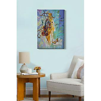 Kanvas Tablo (50 x 70) - 148 flerfärgade dekorativa dukmålning
