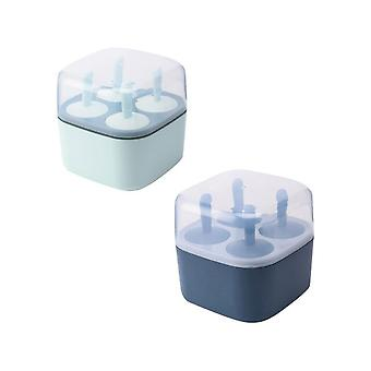 2pc Silicone Ice Cream Molds Chocolate Molds Ice Cube Tray Food Safe Popsicle Maker