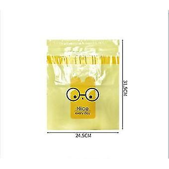 2pcs Disposable Storage Cleaning Bag For In-vehicle Sticky Cute Cartoon Car(Yellow)