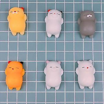 5PCS Squishies Mochi Squishy Toys Decompression Animal Toy Mini Animal Squeeze Toy (Random style)