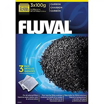 Fluval Set Of 3 Coals 100 G - For Aquarium