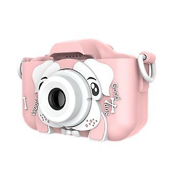 Sinceroduct Детская камера, 20.0MP Цифровая двойная камера с 2,0-дюймовым экраном IPS, с 32G SD-картой (розовый)