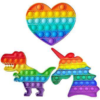 Hjerteform boble fidget legetøj