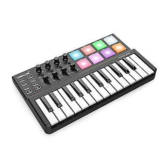 لوحة مفاتيح Usb ذات 25 مفتاحا ووحدة تحكم لوحة الطبل