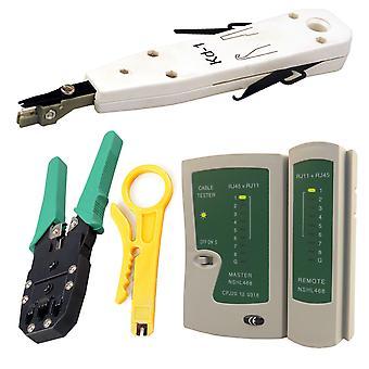 Kabalo netværk LAN Kit: RJ45 Cat5e RJ11 PC kabel Tester crimpning Crimper Punch værktøj sæt