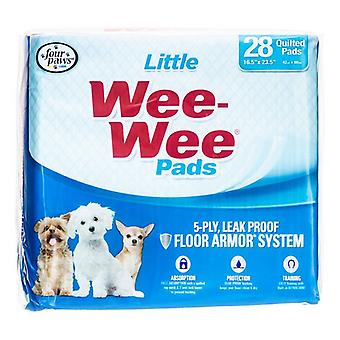 """Four Paws Wee Wee Pads for Little Dogs - 28 Pack (22"""" Long x 23"""" Wide)"""