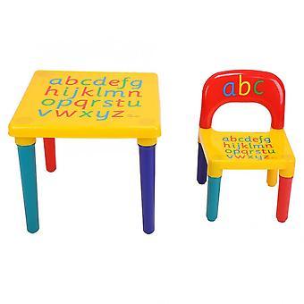 Pöytä & tuolit Muovi Diy Kids Set Play Taapero Aktiviteetti Hauska Lapsi Lelu