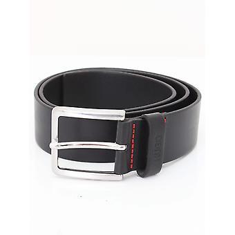 HUGO Gionios Leather Belt - Black