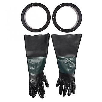 Koolmei 1 Pair Of Sturdy 60 Cm Gloves With 2 Glove Holders For Sandblasting Cabinets
