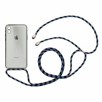 Aquarius Telefoon 7/8 Hoesje Met Ketting Kabel Blauw/Zwart