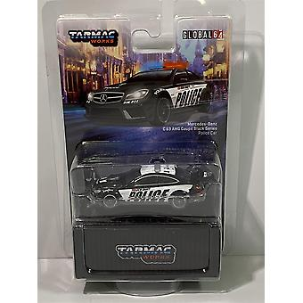 Mercedes C63 Coupe Black Series Police Car 1:64 Tarmac Works T64G-009-PC