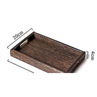 Household storage containers 1 piece retro wooden pallet rectangular storage trays hotel |storage trays s