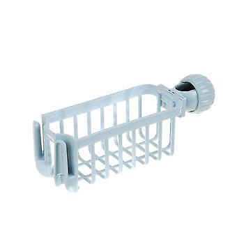 Küchenspüle Wasserhahn Aufbewahrung und Organisationsregal (Blau)
