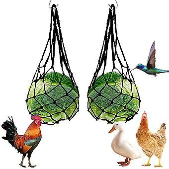 Hay Feeders, Nylon Chicken Fruits And Vegetables Mesh Bag Hay Rack, Rabbit, Reusable Chicken Coop For Hens, Ducks, Geese, Birds, Guinea Pigs, Hamsters