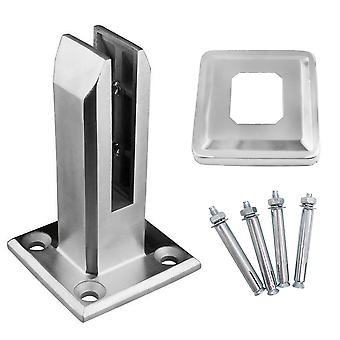 Heavy Duty Stainless Steel Glass Pool Fence Clip Floor Glass Stand Fixed Fittings Clamp