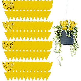 48 قطعة الأصفر لزجة الحشرات الماسك الفخاخ للداخلية / في الهواء الطلق، غير سامة