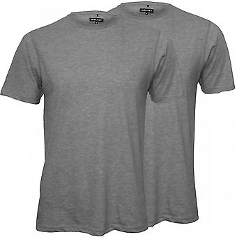 Wolsey 2-Pack Crew-Neck trui T-Shirts, grijze Marl