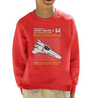 Battlestar Galactica Viper Service And Repair Manual Kid's Sweatshirt