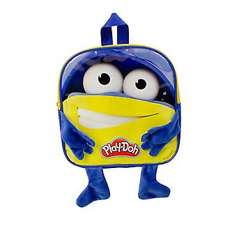Play Dough Boys Backpack with 12 Creative Accessories Blue/Yellow (CPDO090)