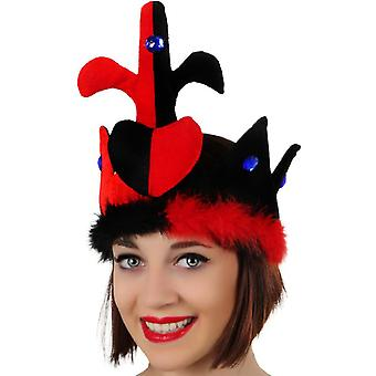 Hats  Crown red-black with heart