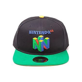 Original Nintendo N64 Logo Snapback Baseball Cap Multi-Colour (SB097565NTN)