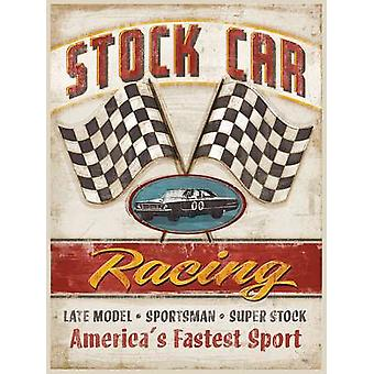 Stock Car Racing Poster Print by Mollie B (12 x 16)