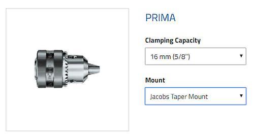 Röhm - Prima - Key-type drill chuck Size 16 Mount J6 - heavy industrial versio