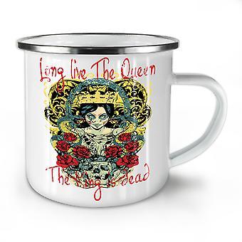 Live Queen King Dead NEW WhiteTea Coffee Enamel Mug10 oz | Wellcoda