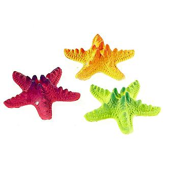 Classic Polyresin Starfish Assortment Aquarium Décor Ornament  9cm