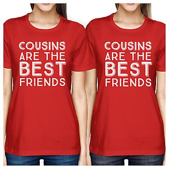 Cousins The Best Friends Red Funny Matching Family Tees For Cousins