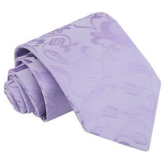 Gravata clássica Floral lilás