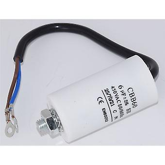 Universal 6UF Capacitor with 19cm Cable Connectors