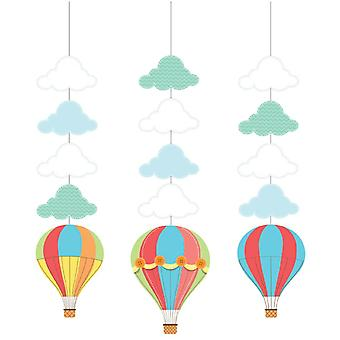 Babyballoon baby party hanging decorations 3 piece children birthday theme party