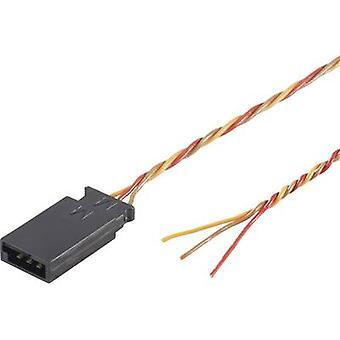 Servo Lead [1x plug futaba - 1x Sony Xperia] 30,00 cm 0,08 mm² torcido Modelcraft