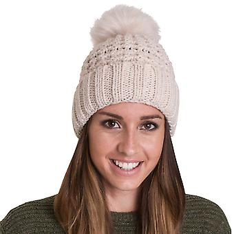 Outdoor Look Womens/Ladies Castlebay Fur Pom Beanie Ski Hat