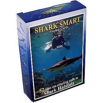 Shark (Staying Safe haiden kanssa) määritetty älykäs 52 pelikortin pakalla + Jokerit