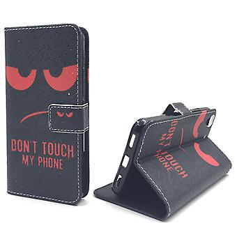 Dont Touch My Phone Handyhülle Huawei Y6 Panzer Schutz Glas Klapphülle Wallet Case