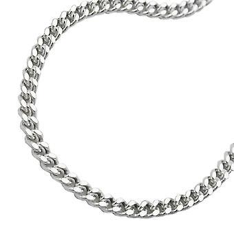 Kette Flachpanzer 2,7mm diamantiert Silber 925 50cm