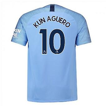 2018-2019 Man City Nike Vapor Hause Match Shirt (Kun Agüero 10)