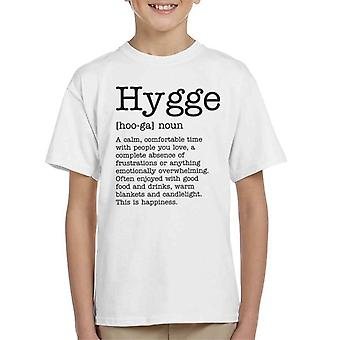 Hygge Definition Kinder T-Shirt