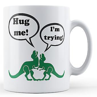 Dinosaur Hug - Printed Mug